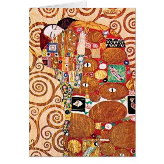 Gustav Klimt - The Embrace - Fine Art Painting Card