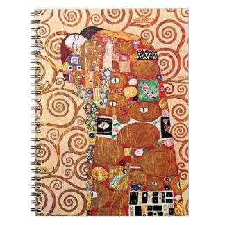 Gustav Klimt - The Embrace - Fine Art Painting Notebook