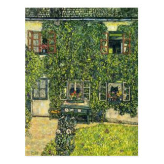 Gustav Klimt - The House of Guardaboschi Postcard