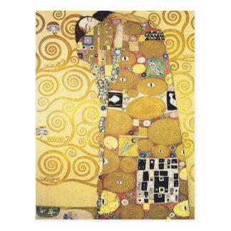 Gustav Klimt - The Hug - Classic Artwork Postcard