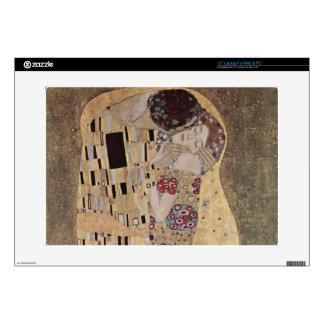 """Gustav Klimt The Kiss 15"""" Laptop Skin"""