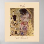 Gustav Klimt The Kiss 1907-08 Poster Print