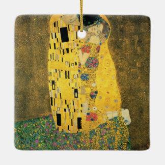 GUSTAV KLIMT - The kiss 1907 Ceramic Ornament