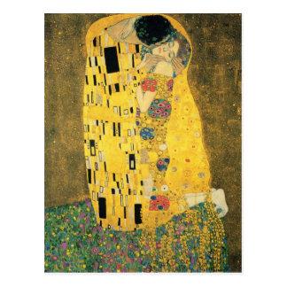 GUSTAV KLIMT - The kiss 1907 Postcard
