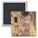 Gustav Klimt ~ the Kiss 2 Inch Square Magnet