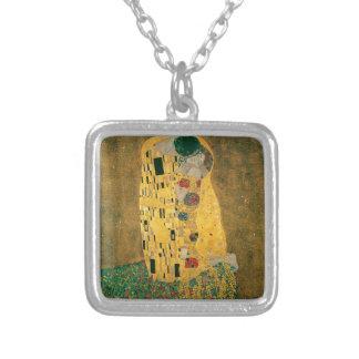 Gustav Klimt The Kiss Art Nouveau Jugendstil Gold Custom Necklace
