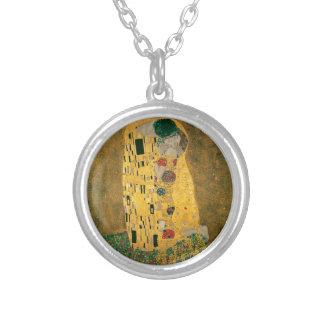 Gustav Klimt The Kiss Art Nouveau Jugendstil Gold Personalized Necklace
