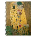 Gustav Klimt The Kiss Art Nouveau Jugendstil Gold Notebooks