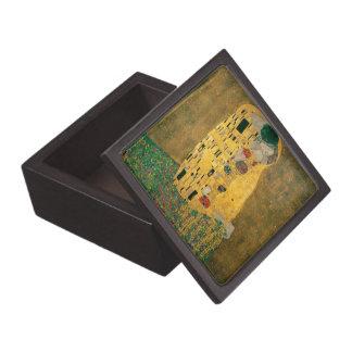 Gustav Klimt The Kiss Art Nouveau Jugendstil Gold Premium Keepsake Box