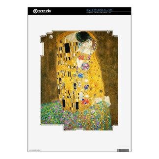 Gustav Klimt The Kiss Art Nouveau Decals For iPad 2