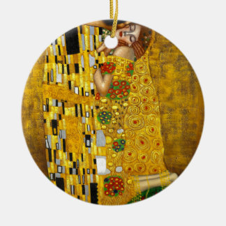Gustav Klimt The Kiss Ceramic Ornament