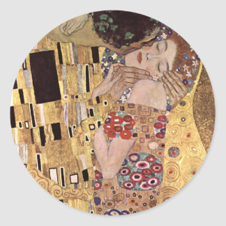 Gustav Klimt ~ the Kiss Classic Round Sticker