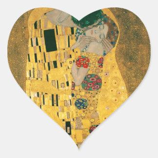 Gustav Klimt // The Kiss // Der Kuss Heart Sticker