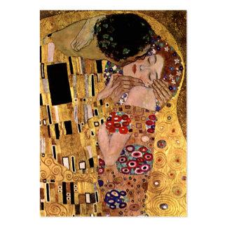 Gustav Klimt: The Kiss (Detail) Large Business Cards (Pack Of 100)
