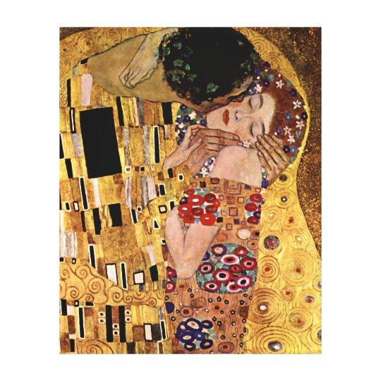 Gustav Klimt: The Kiss (Detail) Canvas Print