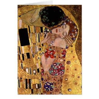 Gustav Klimt: The Kiss (Detail) Card