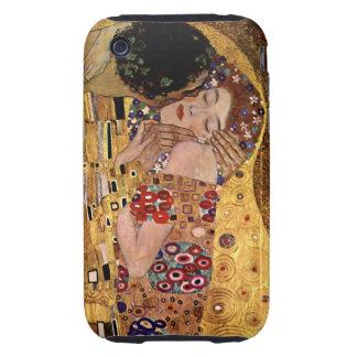 Gustav Klimt: The Kiss (Detail) Tough iPhone 3 Case