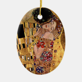 Gustav Klimt: The Kiss (Detail) Ceramic Ornament