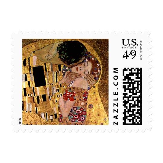 Gustav Klimt: The Kiss (Detail) Postage
