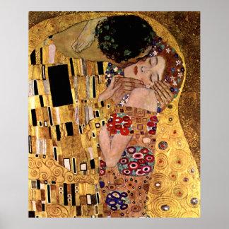 Gustav Klimt: The Kiss (Detail) Poster