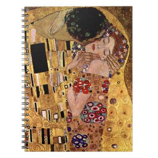 Gustav Klimt: The Kiss (Detail) Spiral Notebook