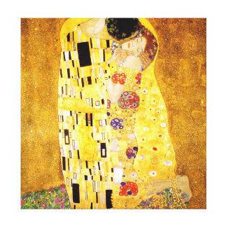 Gustav Klimt  - The Kiss (El Beso, Le Baiser) Canvas Print