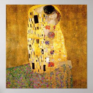 Gustav Klimt The Kiss Fine Art Poster