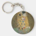 Gustav Klimt - The Kiss Basic Round Button Keychain