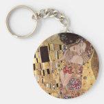 Gustav Klimt ~ the Kiss Basic Round Button Keychain