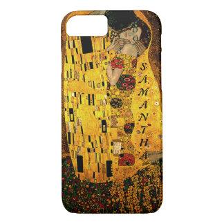 Gustav Klimt The Kiss Monogram iPhone 8/7 Case