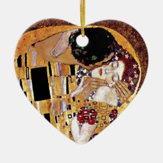 Gustav Klimt - The Kiss Christmas Ornaments