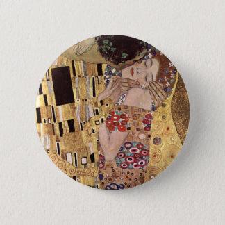 Gustav Klimt ~ the Kiss Pinback Button