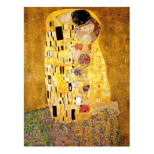 Gustav Klimt The Kiss Post Card