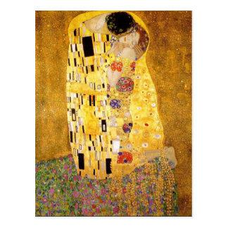 Gustav Klimt The Kiss Postcard