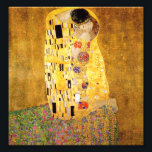 "Gustav Klimt The Kiss Print<br><div class=""desc"">Gustav Klimt The Kiss print. Artwork oil paint on canvas from 1907-1908. The Kiss is Gustav Klimt's best-known painting,  a beautiful work representing the height of his golden period. A perfect gift for lovers of Austrian symbolism,  Gustav Klimt,  and fine art.</div>"