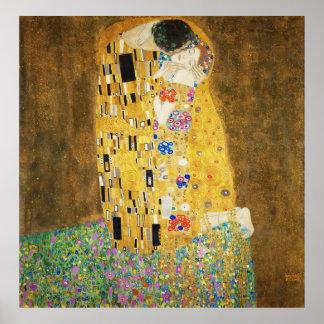 Gustav Klimt The Kiss Print Art Nouveau Jugendstil