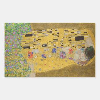 """Gustav Klimt """"The Kiss"""" Rectangular Sticker"""
