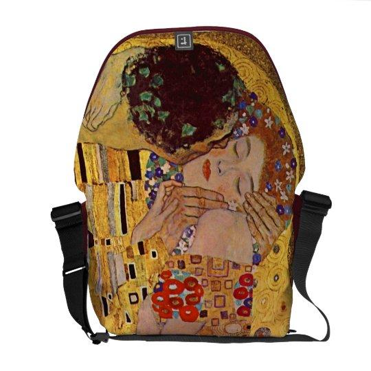 Gustav Klimt The Kiss Rickshaw Messenger Bag