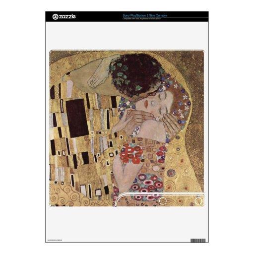 Gustav Klimt The Kiss Skins For PS3 Slim