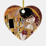 Gustav Klimt - The Kiss Vintage Art Nouveau Lovers Ceramic Ornament