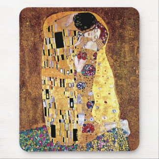 Gustav Klimt - The Kiss - Vintage Art Nouveau Mouse Pad