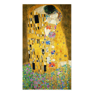 Gustav Klimt The Kiss Vintage Art Nouveau Painting Double-Sided Standard Business Cards (Pack Of 100)