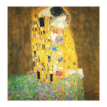 Gustav Klimt The Kiss Vintage Art Nouveau Painting Canvas Print