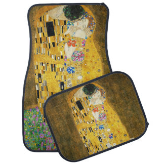 Gustav Klimt The Kiss Vintage Art Nouveau Painting Car Floor Mat