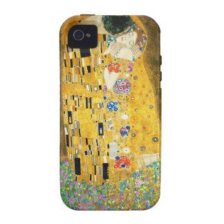 Gustav Klimt The Kiss Vintage Art Nouveau Painting Vibe iPhone 4 Cases