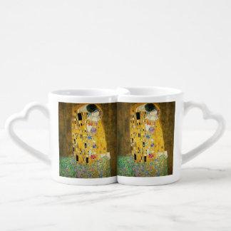 Gustav Klimt The Kiss Vintage Art Nouveau Painting Couples' Coffee Mug Set