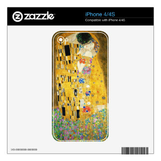 Gustav Klimt The Kiss Vintage Art Nouveau Painting iPhone 4S Decal