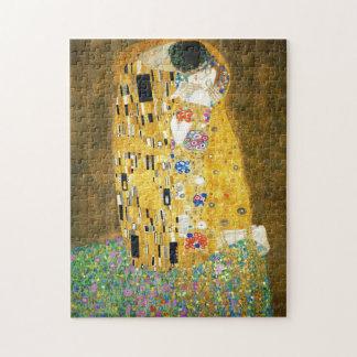 Gustav Klimt The Kiss Vintage Art Nouveau Painting Jigsaw Puzzle