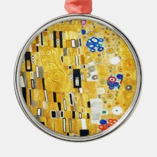 Gustav Klimt The Kiss Vintage Art Nouveau Painting Metal Ornament