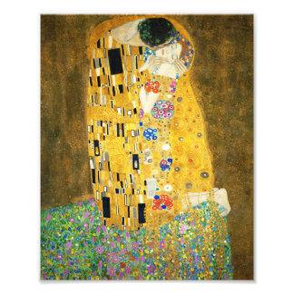 Gustav Klimt The Kiss Vintage Art Nouveau Painting Photo Print